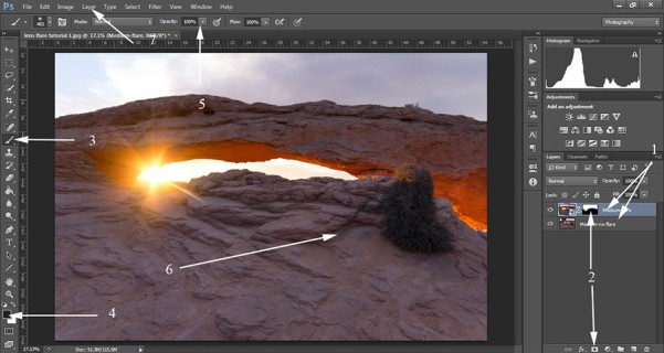 remove-lens-flare-in-photoshop