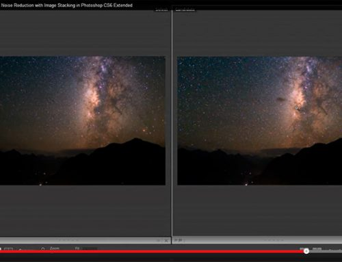Landscape Astrophotography Noise Reduction with Image Stacking