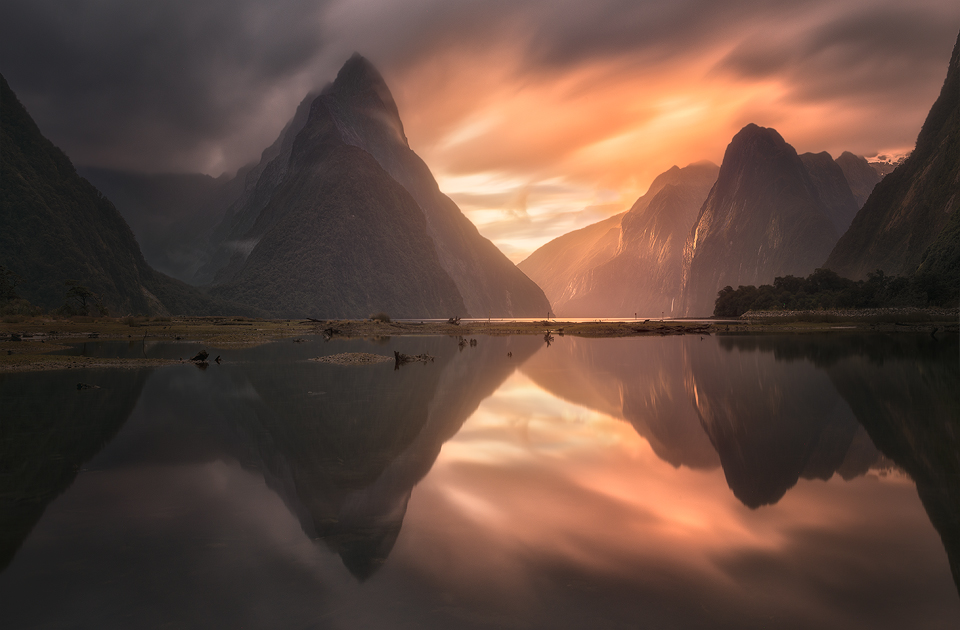 milford sound epic sunset small 2