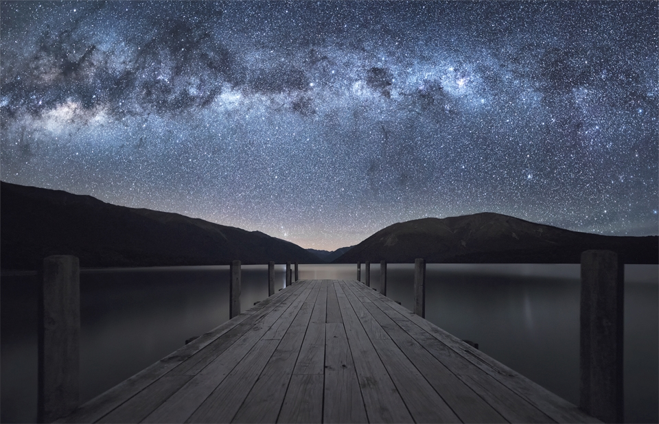 milky way over lake rotoiti 9