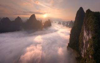guilin fog at sunrise 21