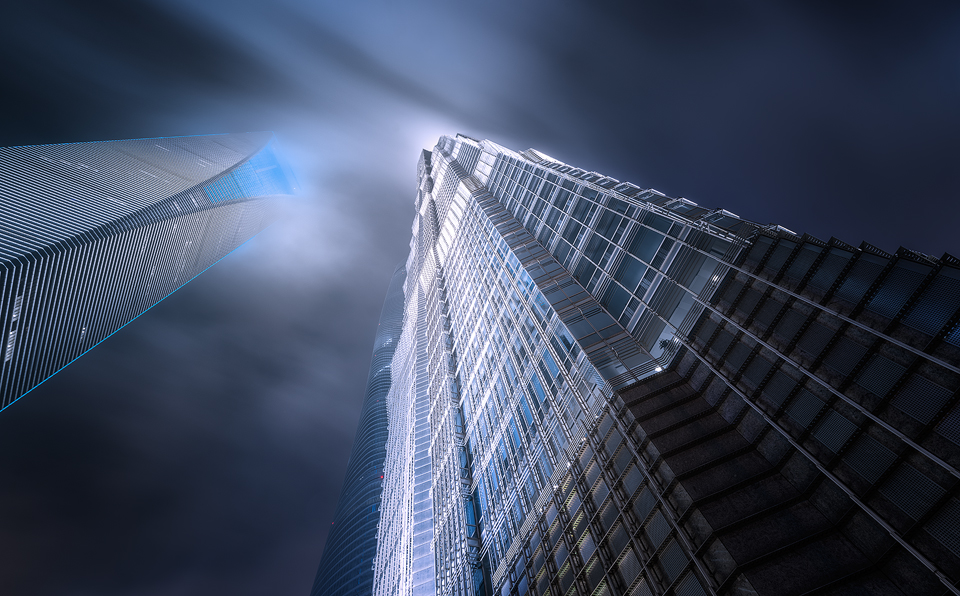 looking-up-at-tall-building-in-shanghai