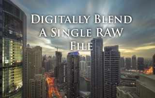 digitally blend a single exposure