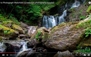 how to shoot waterfalls