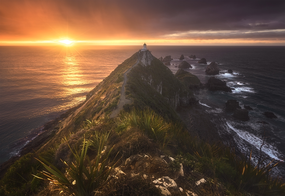 sunrise at Nugget point