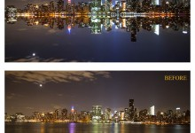 Tutorial – How to create a cityscape reflection in Photoshop
