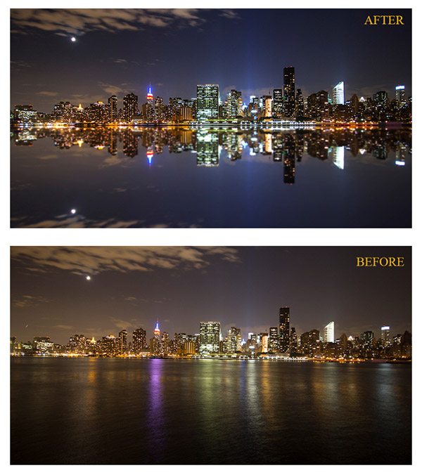 Tutorial - How to create a cityscape reflection in Photoshop