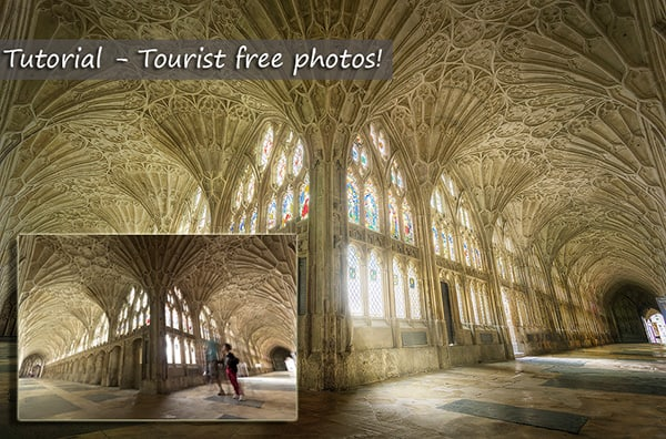 remove tourists from photos