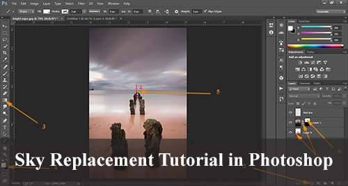 Sky Replacement Tutorial in Photoshop - Gradient Mask