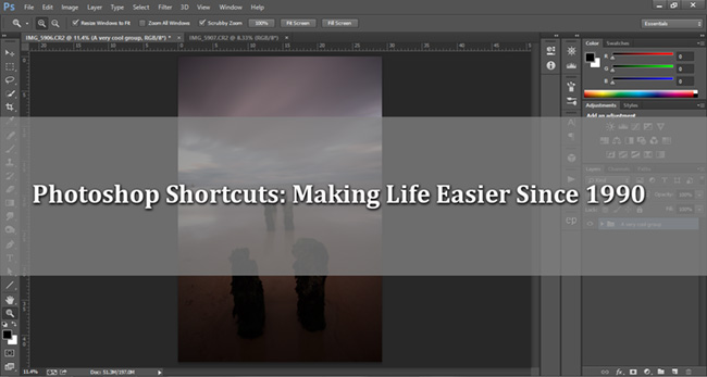 shortcuts in photoshop