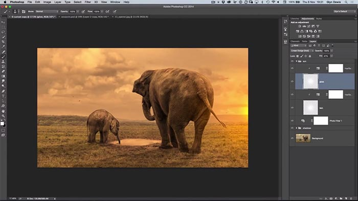 Create A Beautiful Sunset Glow In Photoshop