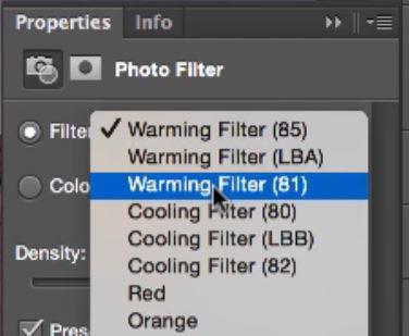 Add warm filter