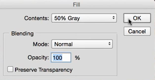 fill settings in photoshop