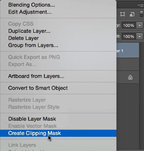 Add clipping mask to layer