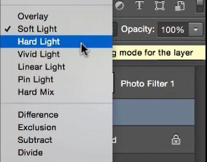 soft light to hard light