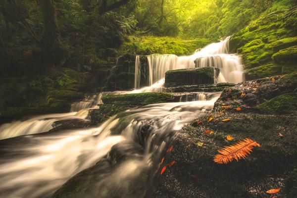 side waterfall