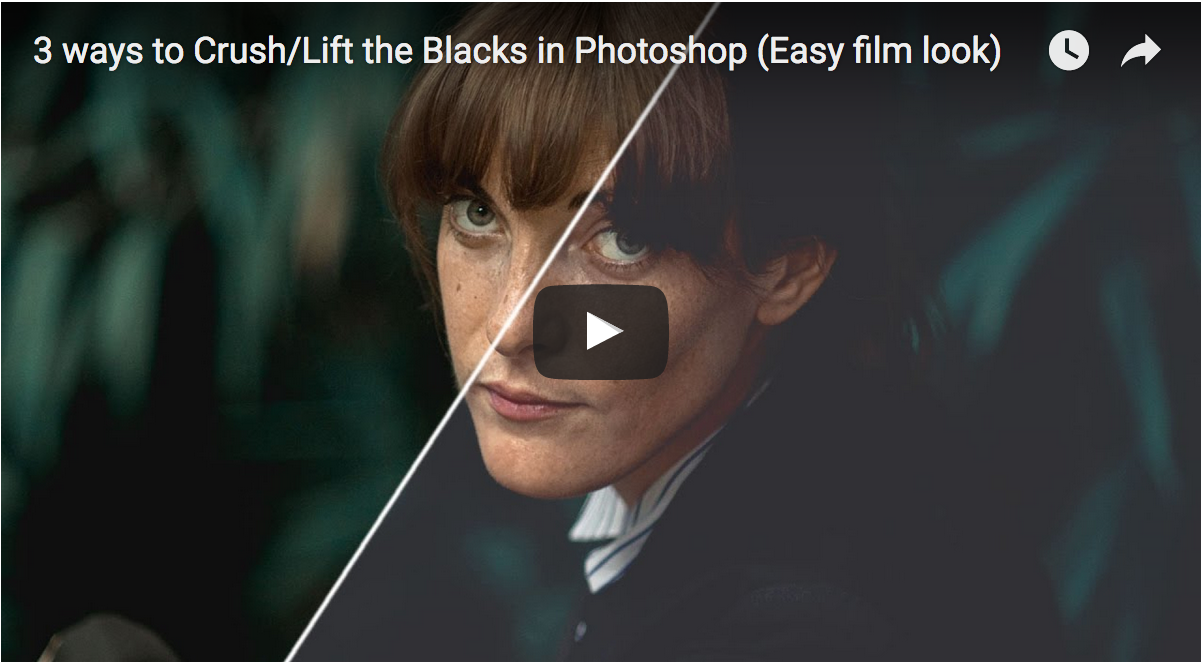 3 ways to Crush/Lift the Blacks in Photoshop (Easy film look)