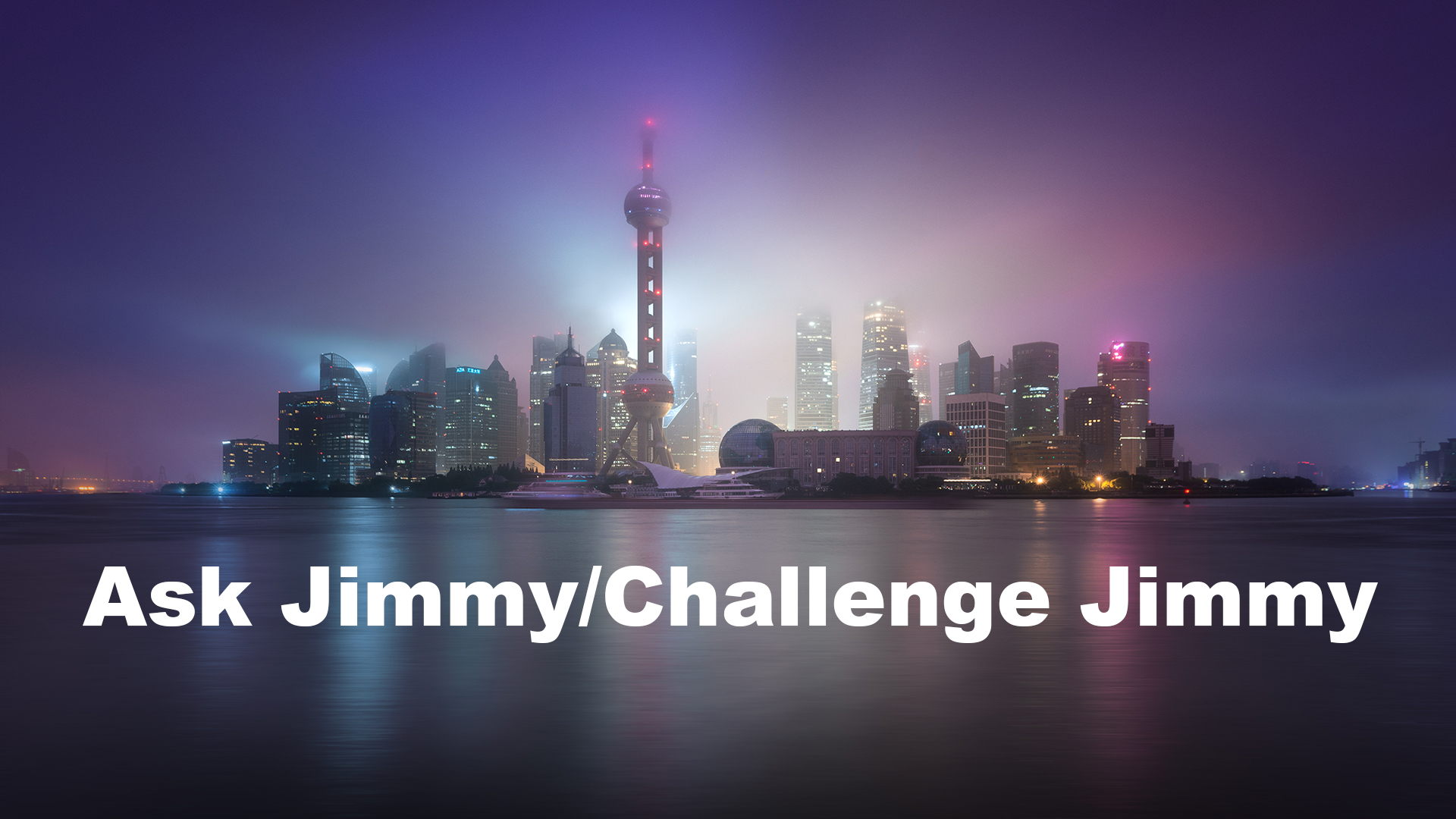 Ask Jimmy/Challenge Jimmy Photography YouTube Series