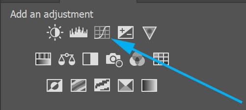 create a photoshop curves layer