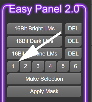 choose a brights 1 luminosity mask