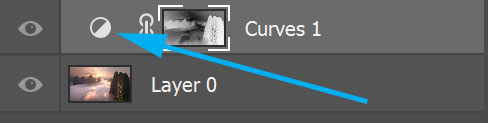 Opening a curves layer in Photoshop