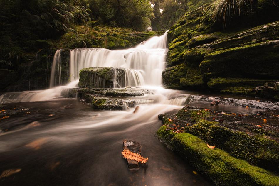 waterfall bright