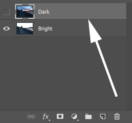 Select dark exposure for blending