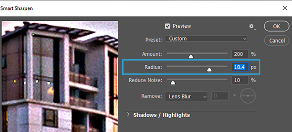 Whats is radius for in photoshop