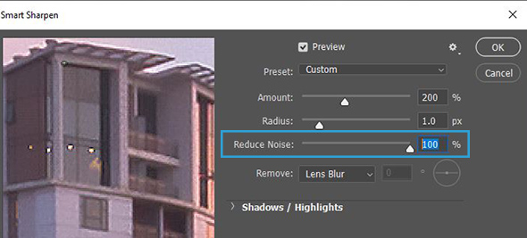 Reduce Noise in photoshop