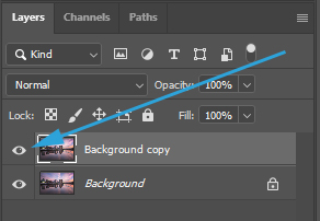 View layer in photoshop