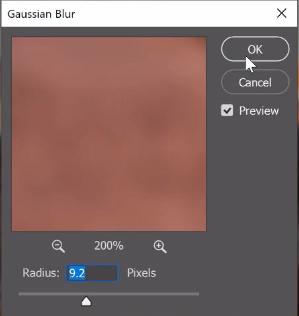 Gaussian blur in frequency separation
