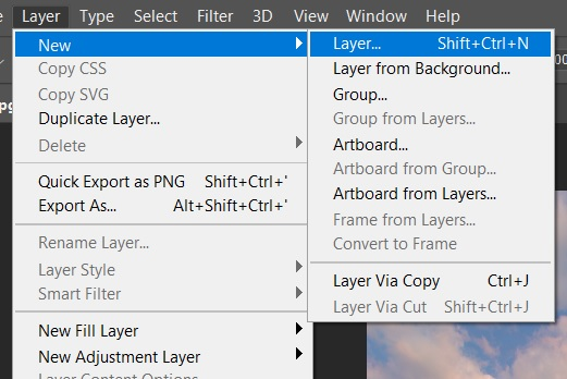 add new contrast layer