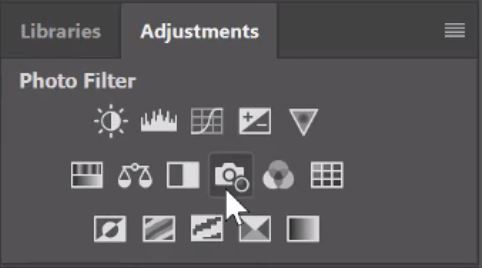 photo filter in photoshop