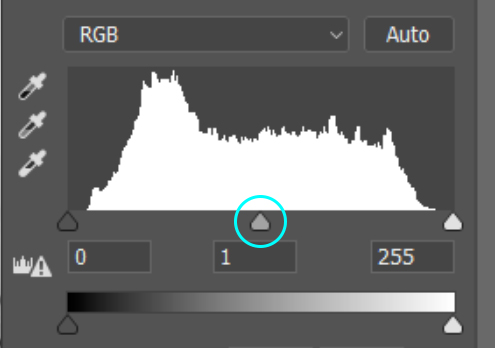levels mid tone slider