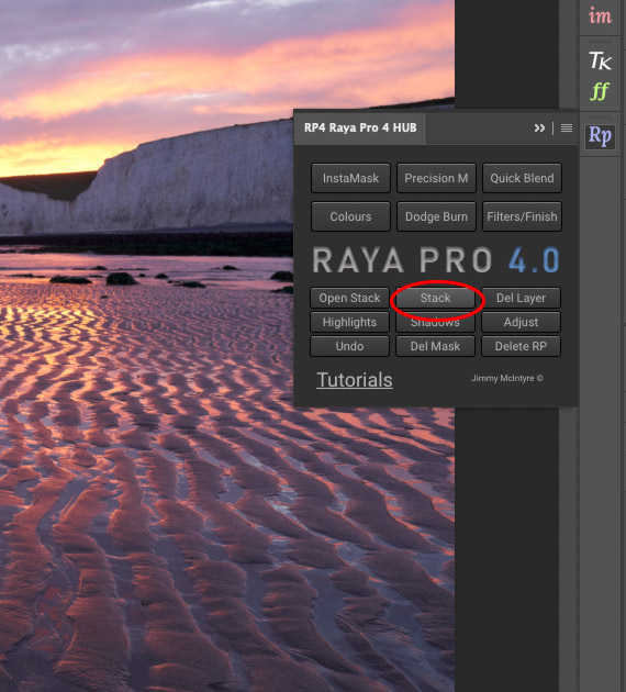 stack images in photoshop