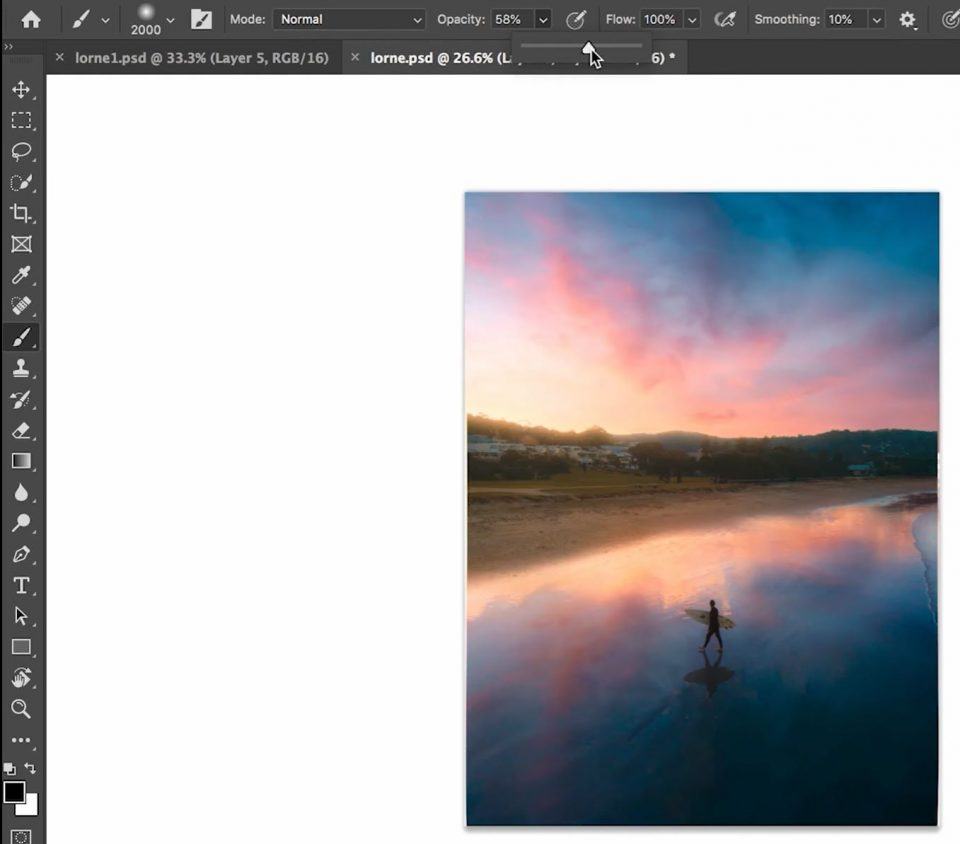 create a misty image