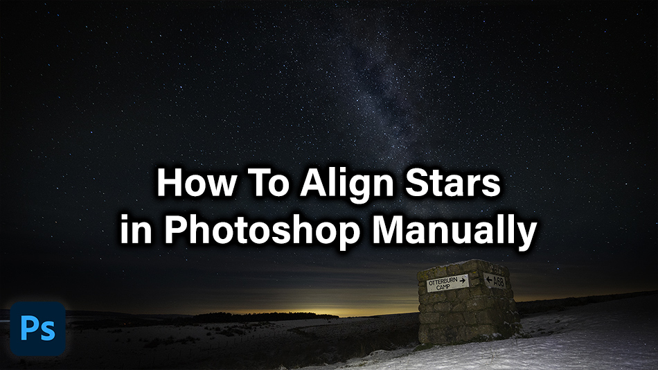 How To Align Stars in Photoshop Manually