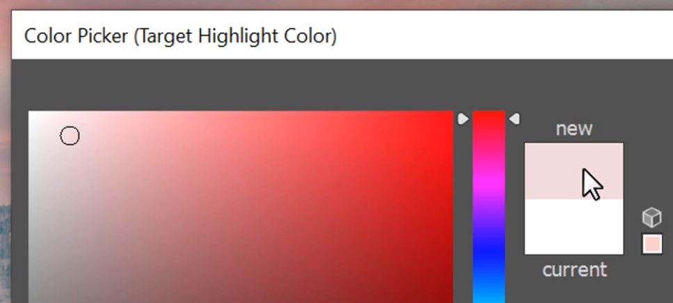 Target Highlight Colors