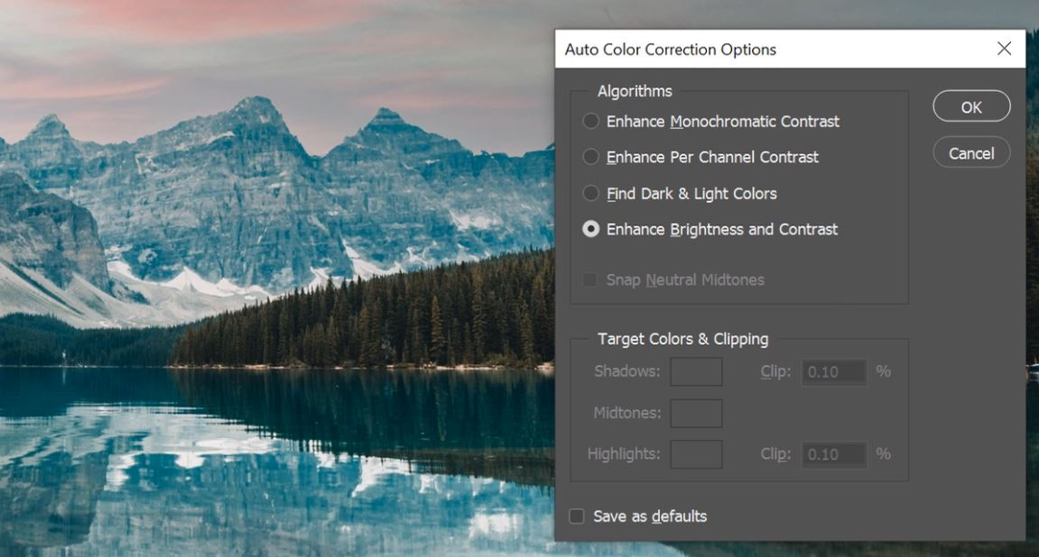 how to auto match colours in photoshop