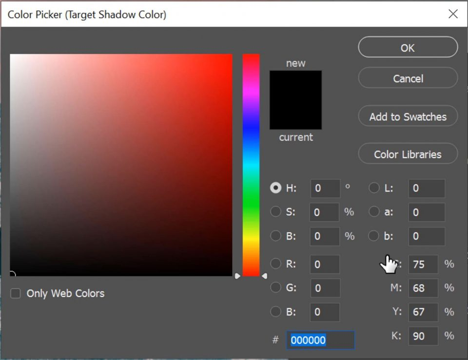 Target Shadow Colors