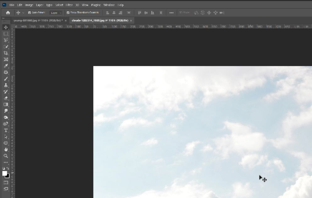 adding clouds in photoshop